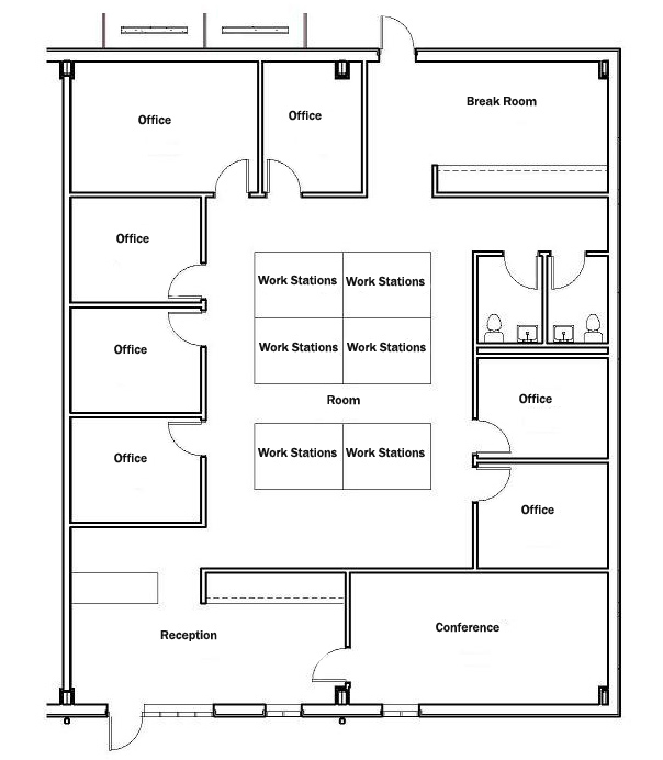 Sample units for 3000 sq ft apartment floor plan